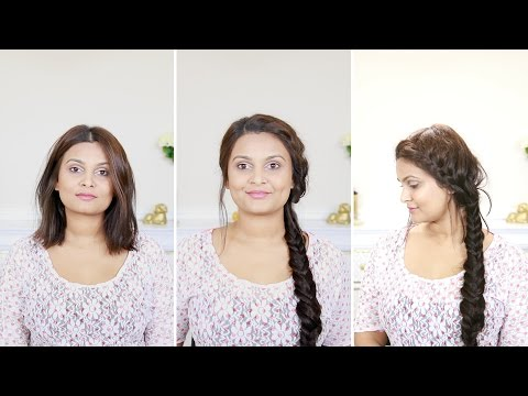 How to do a french fishtail braid | For short hair with extensions
