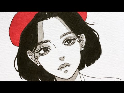 how I draw a female face ☆彡