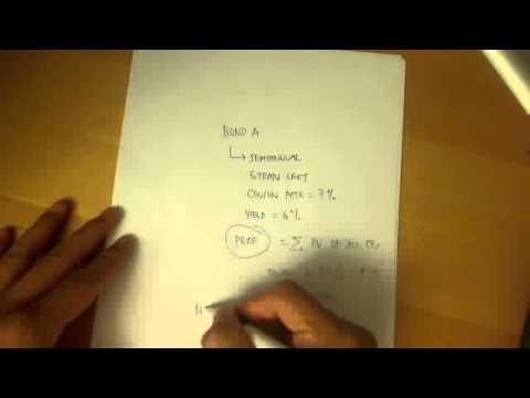 Calculating bond price of coupon bonds