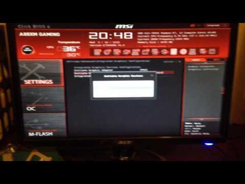 Changing APU VRAM on MSI a88xm gaming motherboard