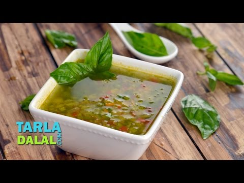 Vegetable and Basil Soup (Diabetic Recipe) by Tarla Dalal
