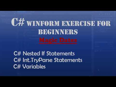 Starting Out With Visual C# - Magic Dates (Intro To Visual C#) - Windows Forms