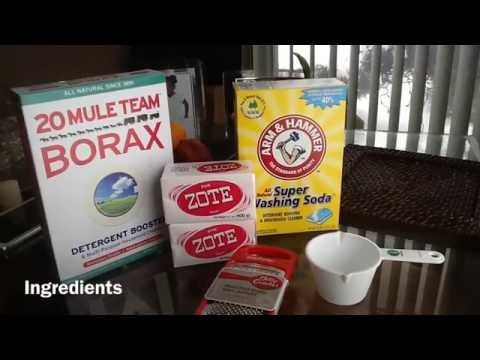 How to make your own detergent (Powder version)