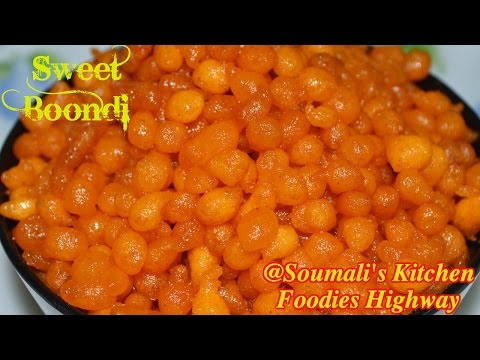 How to prepare Sweet Boondi | Diwali Special Recipe | Bengali Bode Recipe