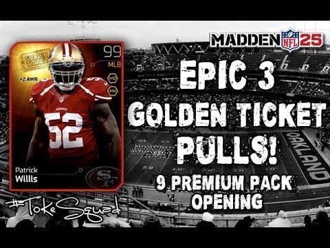 Madden 25 Ultimate Team | EPIC 3 GOLDEN TICKET PULLS | 9 Premium Packs | GIVEAWAYS