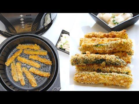Air Fryer Crispy Zucchini Fries Video Recipe   Bhavna's Kitchen