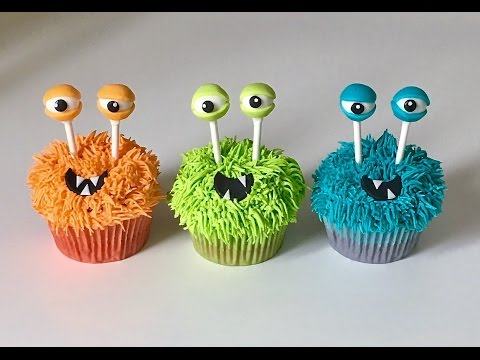 Cake decorating tutorials | how to make monsters cupcakes | Sugarella Sweets