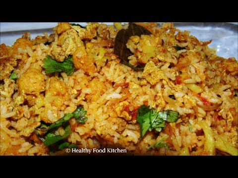 Gobi Egg Rice Recipe - Variety Rice Recipe - Quick and easy Lunch box Recipe - Bachelor Recipe