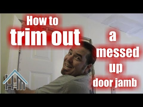 How to repair messed up door frame, replace casing. Easy! Home Mender.