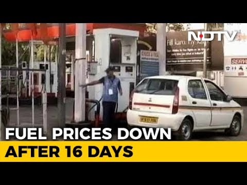 Some Relief On Petrol And Diesel, Prices Cut After 16 Days Of Hikes