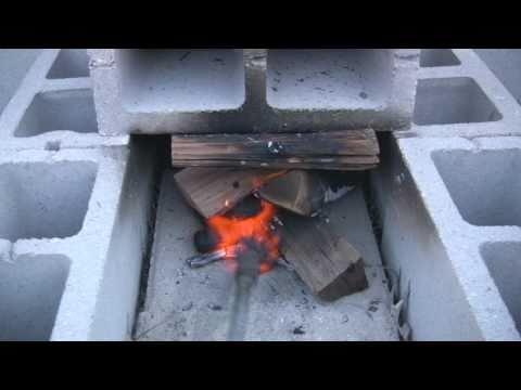 Cinder Block Smoker Smokehouse