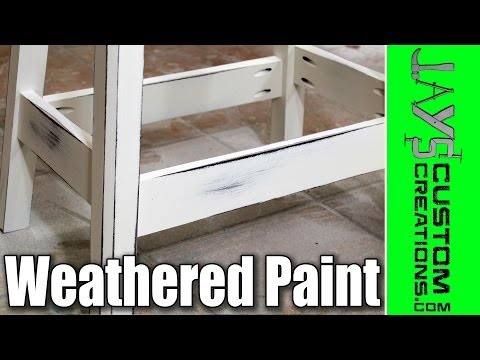 How To Get An Antique/Weathered Paint Finish - 131