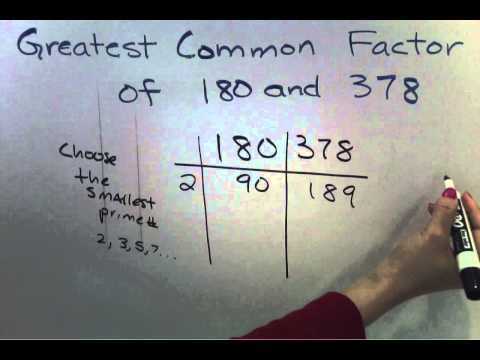 GCF - Greatest Common Factor for Large Numbers (Easier Method) (6 of 7)
