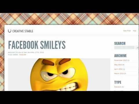 How to Make Smiley faces for Facebook