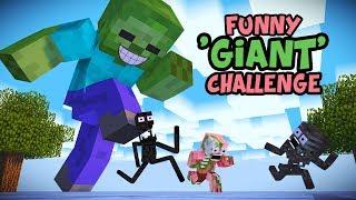 Download Monster School : GIANT CHALLENGE - Minecraft Animation Video