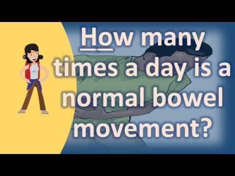 How many times a day is a normal bowel movement ? | Good Health for All