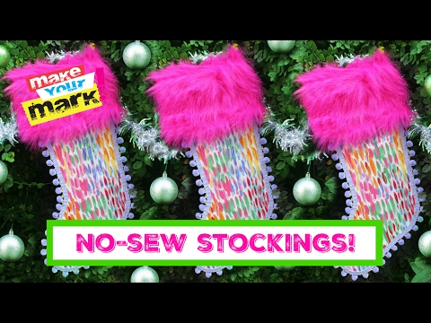 How to: No Sew Christmas Stockings