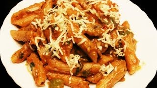 Indian Style Creamy Tomato Pasta - Kids Luch Box / Indian Pasta Recipe by madhurasrecipe