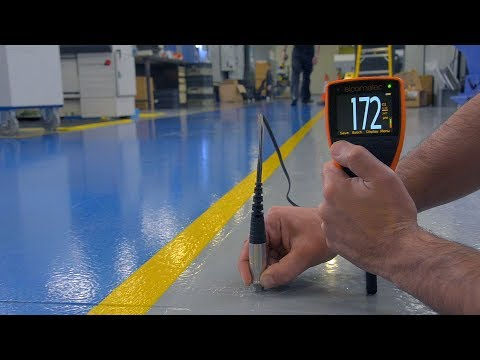 How to take accurate DFT measurements on concrete with the Elcometer 500 Coating Thickness Gauge