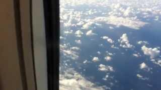 Scary flight turbulence