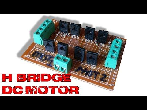 H-bridge DC motor speed control