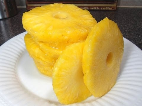 How to Cut a Pineapple and make Pineapple Rings!