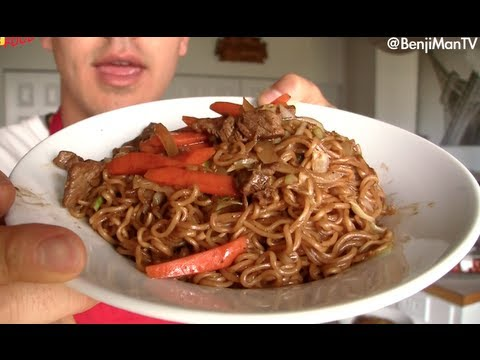 Yakisoba Recipe and Tutorial (How to cook)- BenjiManTV