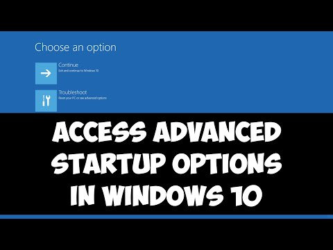 3 methods to access Advanced Startup Options in Windows 10