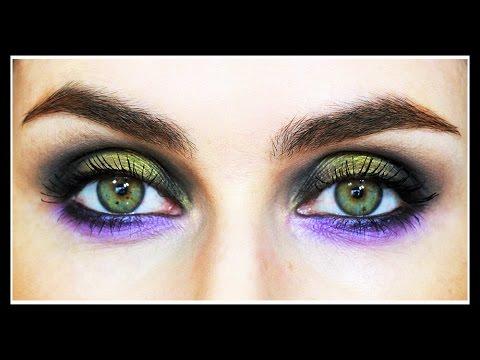 Fall Makeup Tutorial Green & Purple Smokey Eye | LetzMakeup