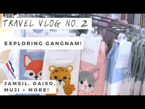 Travel Vlog Day 2: Exploring Gangnam Subway Shopping, Coex Mall, Daiso, and Muji!