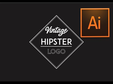 Adobe Illustrator Vintage hipster logo design  tutorial