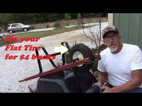 Save $$$ Fix your wheelbarrow flat tire for 4 bucks!   DIY
