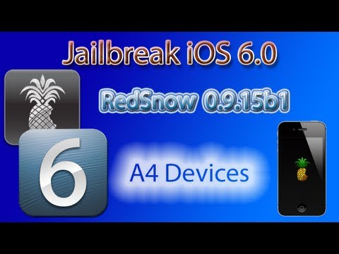 How to Jailbreak iOS 6.0 With Redsn0w