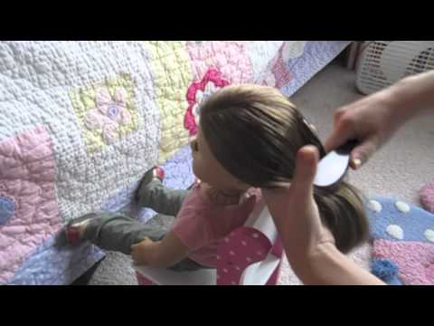 How to do a Perfect high ponytail on your American Girl Doll