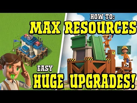 Upgrade your Base to MAX Quickly without Diamonds - Boom Beach