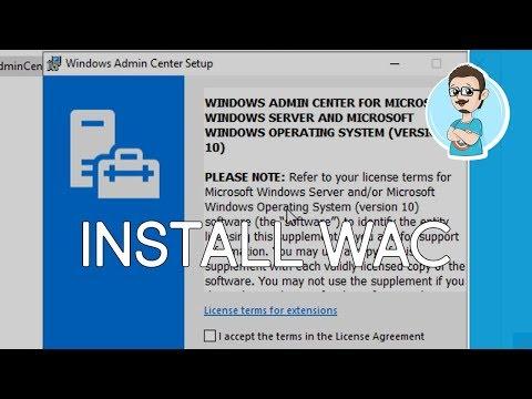 Install Windows Admin Center onto Windows Server 2019!