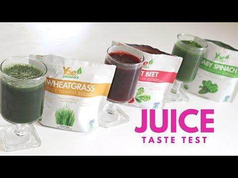 Yae! Organics Juice Powder Taste Test