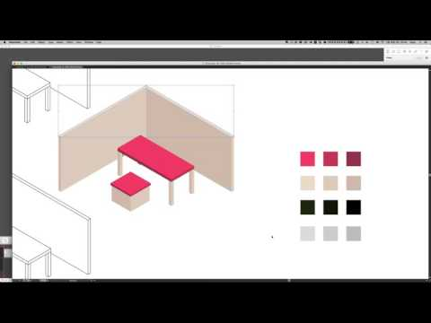 how to draw pictogram style image with sketchup + illustrator