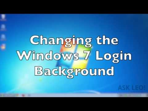 Changing the Windows 7 Login Background