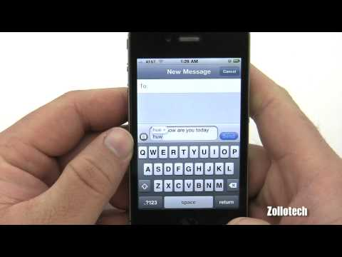 iPhone 4 Texting Overview