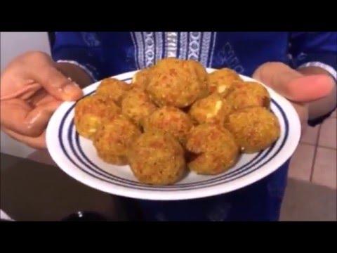 Healthy Carrot Rava Laddu in telugu - By Sritha's Kitchen