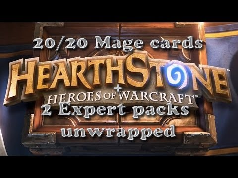 Hearthstone Expert pack unwrapping x2 plus EPIC card and all mage basic cards.