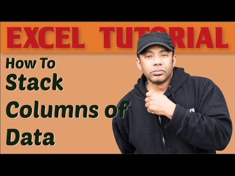 How to Stack Columns of Data in Excel: Formula Method, Power Query Method