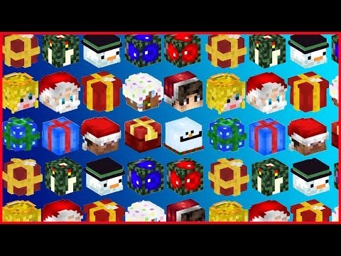 Minecraft - BEST CHRISTMAS DECORATIONS! How to Get Christmas Mob Heads Tutorial 1.12 (2017)
