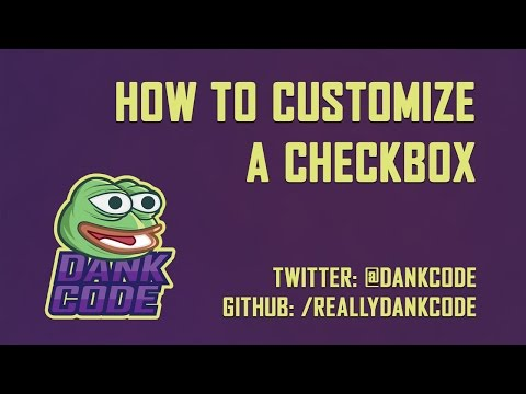 How To Customize An Input Checkbox - HTML & CSS Only