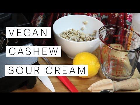 Cashew Sour Cream Recipe | Edgy Veg