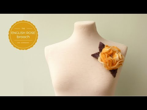 Felted Flower Brooch Tutorial - Introduction