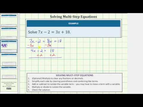 Solve an Equation with Variable on Both Sides