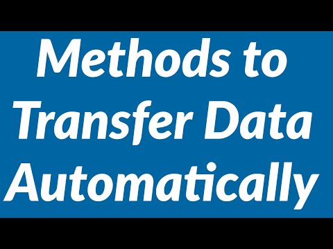 Methods to transfer data from Excel automatically with vba