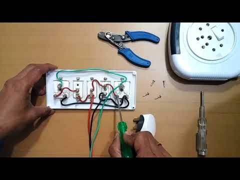 How to Make an Electric Extension Board Wiring Connection/Three Socket,Two Switches Circuit Board
